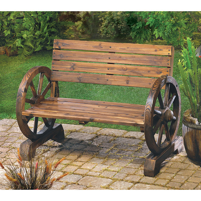 Скамейка для сада из дерева своими руками фото