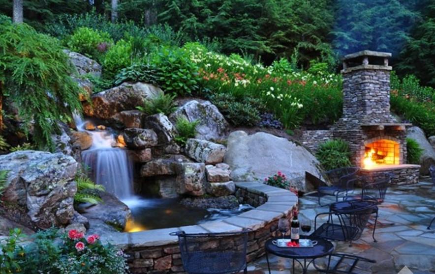 Как самим сделать водопад на даче своими руками