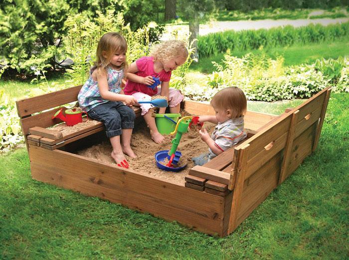 Фото детской площадки своими руками на даче