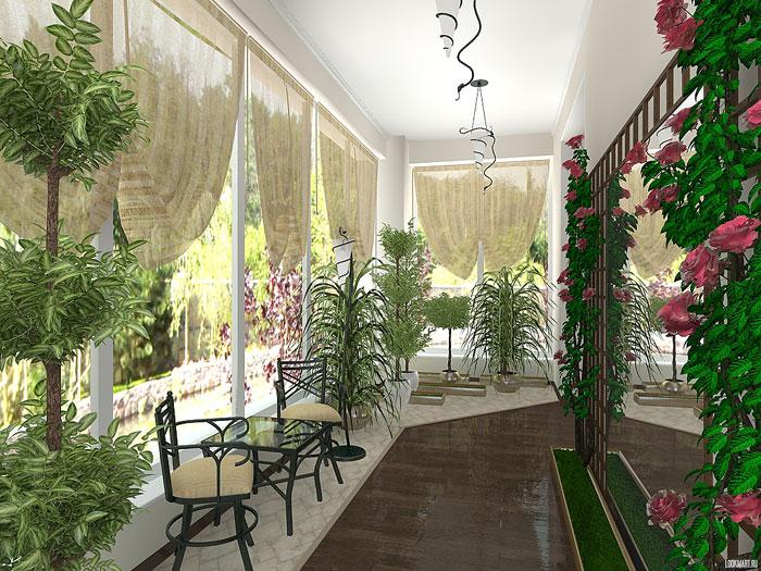 Как обустроить зимний сад на балконе или на лоджии своими ру.